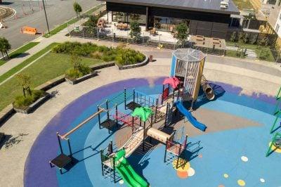 waiata shores playground construction