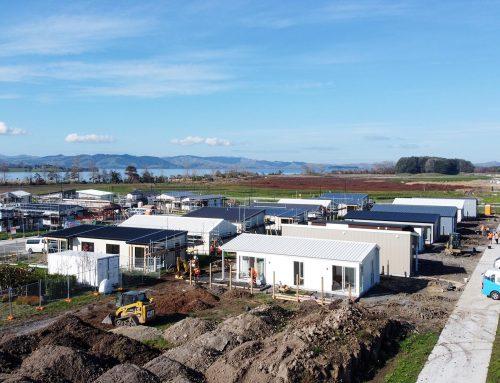 Commercial landscaping for Lakeside development